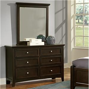 Double Dresser & Small Landscape Mirror