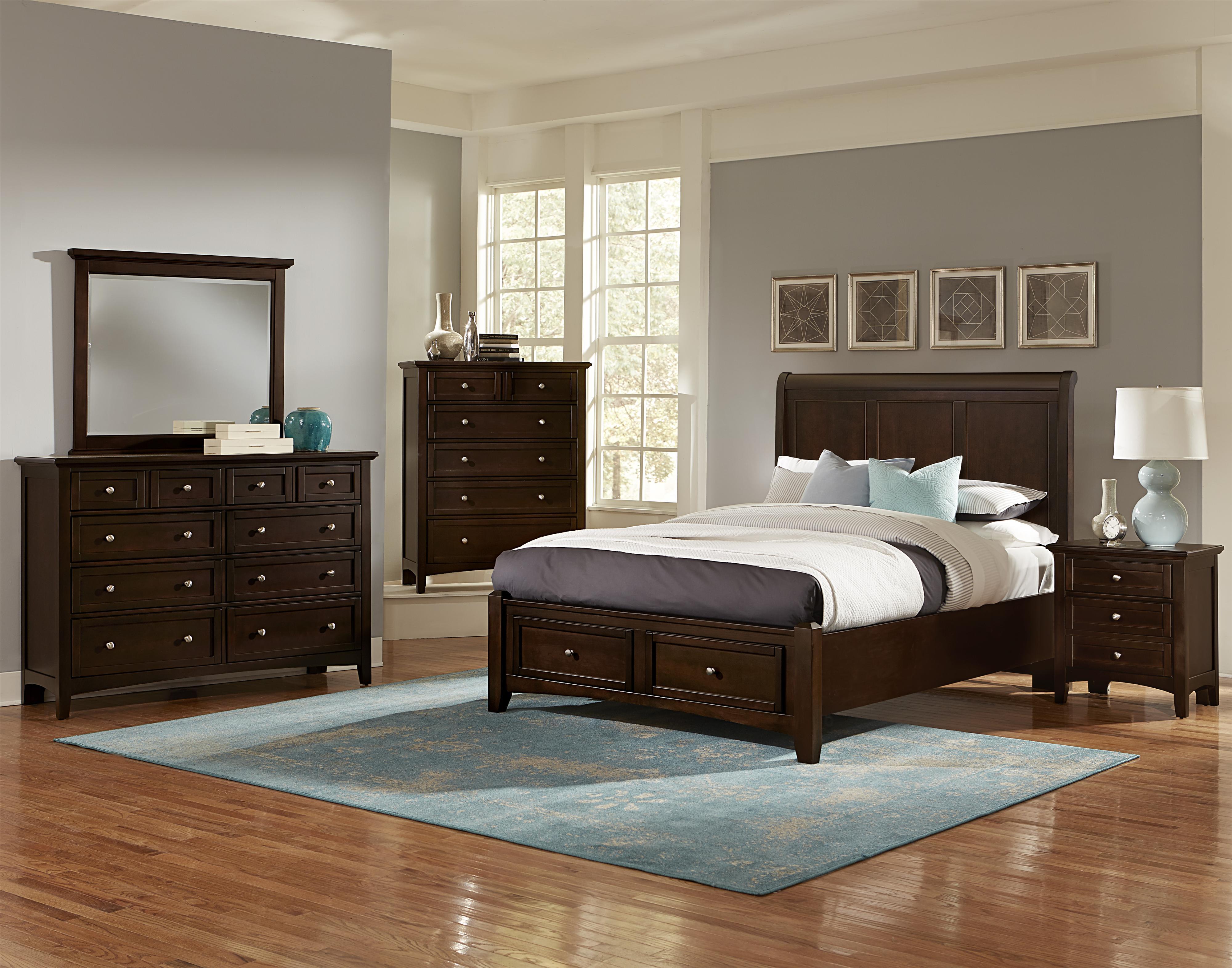 Vaughan Bassett Bonanza Casual Triple Dresser 8 Drawers Prime Brothers Furniture Dressers
