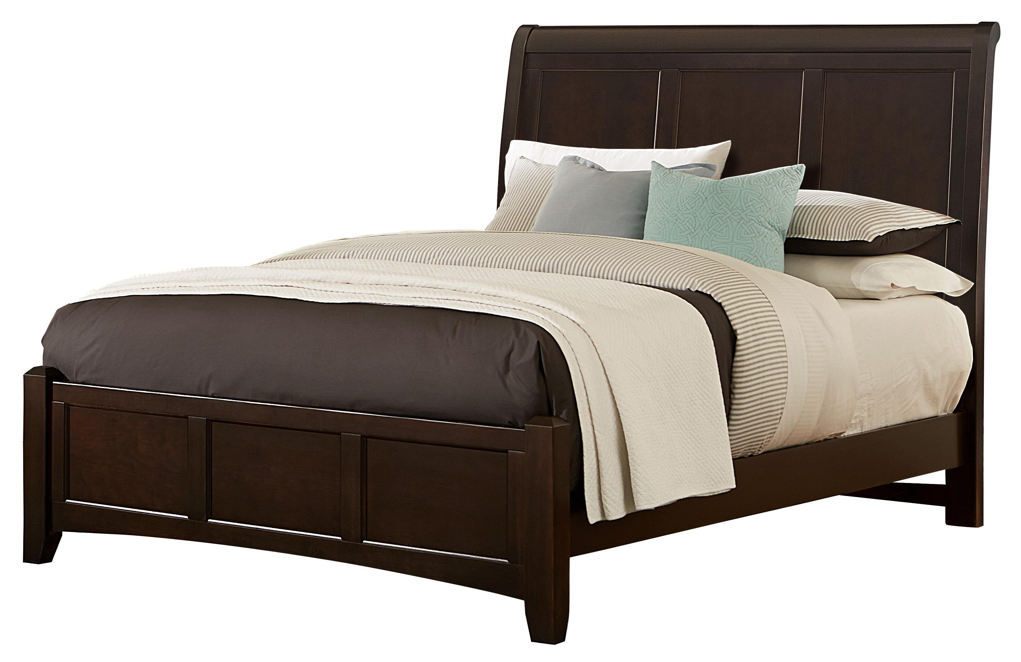 Vaughan Bassett Bonanza Queen Sleigh Bed with Low Profile Footboard - Item Number: BB27-553+855+922