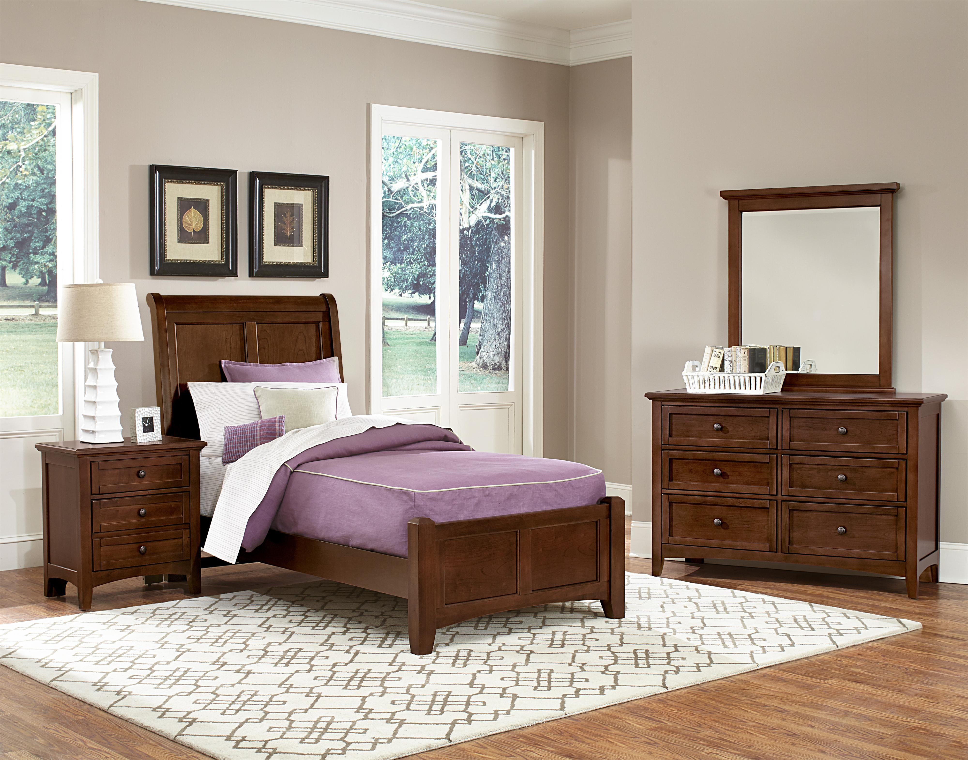 Vaughan Bassett Bonanza Twin Bedroom Group - Item Number: BB28 T Bedroom Group 2