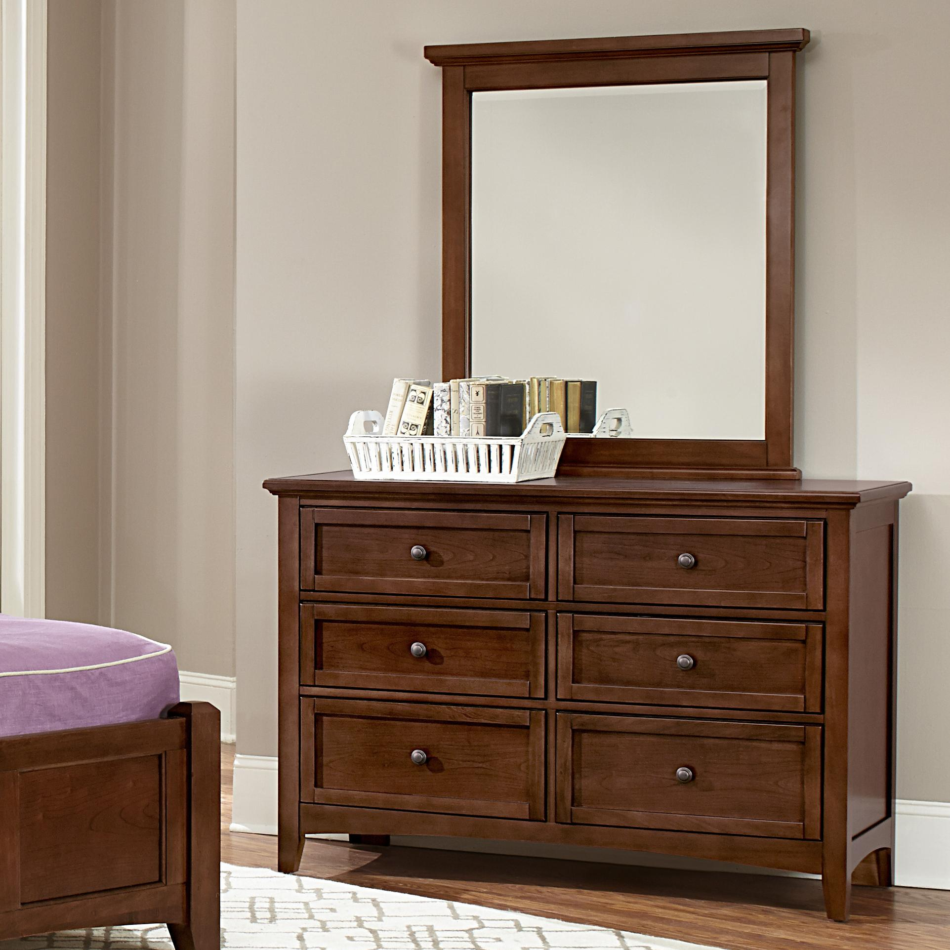 Vaughan Bassett Bonanza Double Dresser & Small Landscape Mirror - Item Number: BB28-001+442