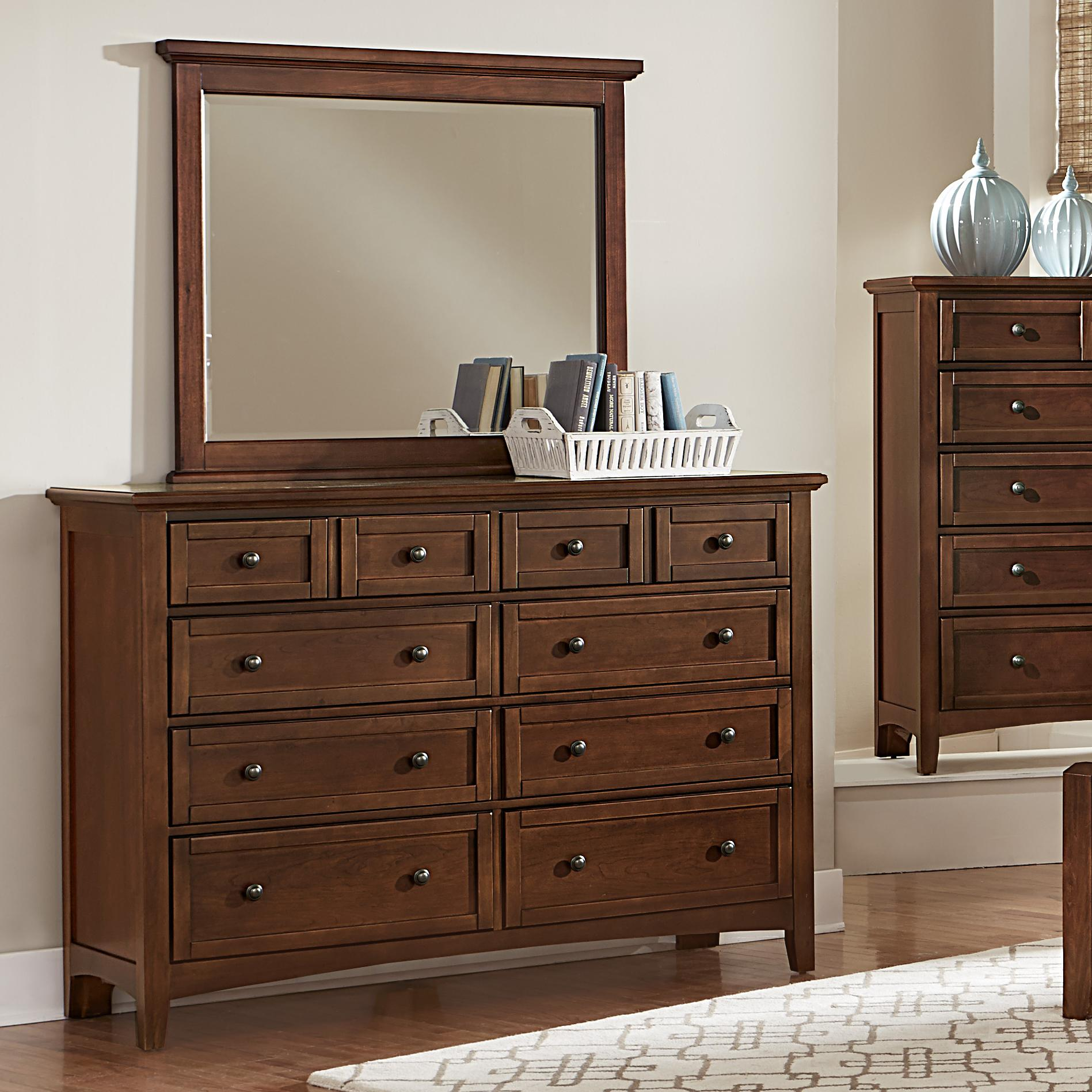 Bonanza Triple Dresser & Landscape Mirror by Vaughan Bassett at Northeast Factory Direct