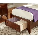 Vaughan Bassett Bonanza Twin Mansion Storage Bed with 1 Drawer