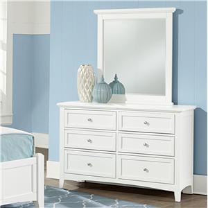 Vaughan Bassett Bonanza Double Dresser & Small Landscape Mirror
