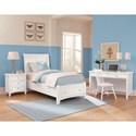 Vaughan Bassett Bonanza Twin Sleigh Storage Bed with 1 Drawer