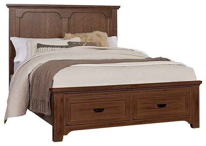 Bungalo Home King Panel Storage Bed by Vaughan Bassett at Johnny Janosik