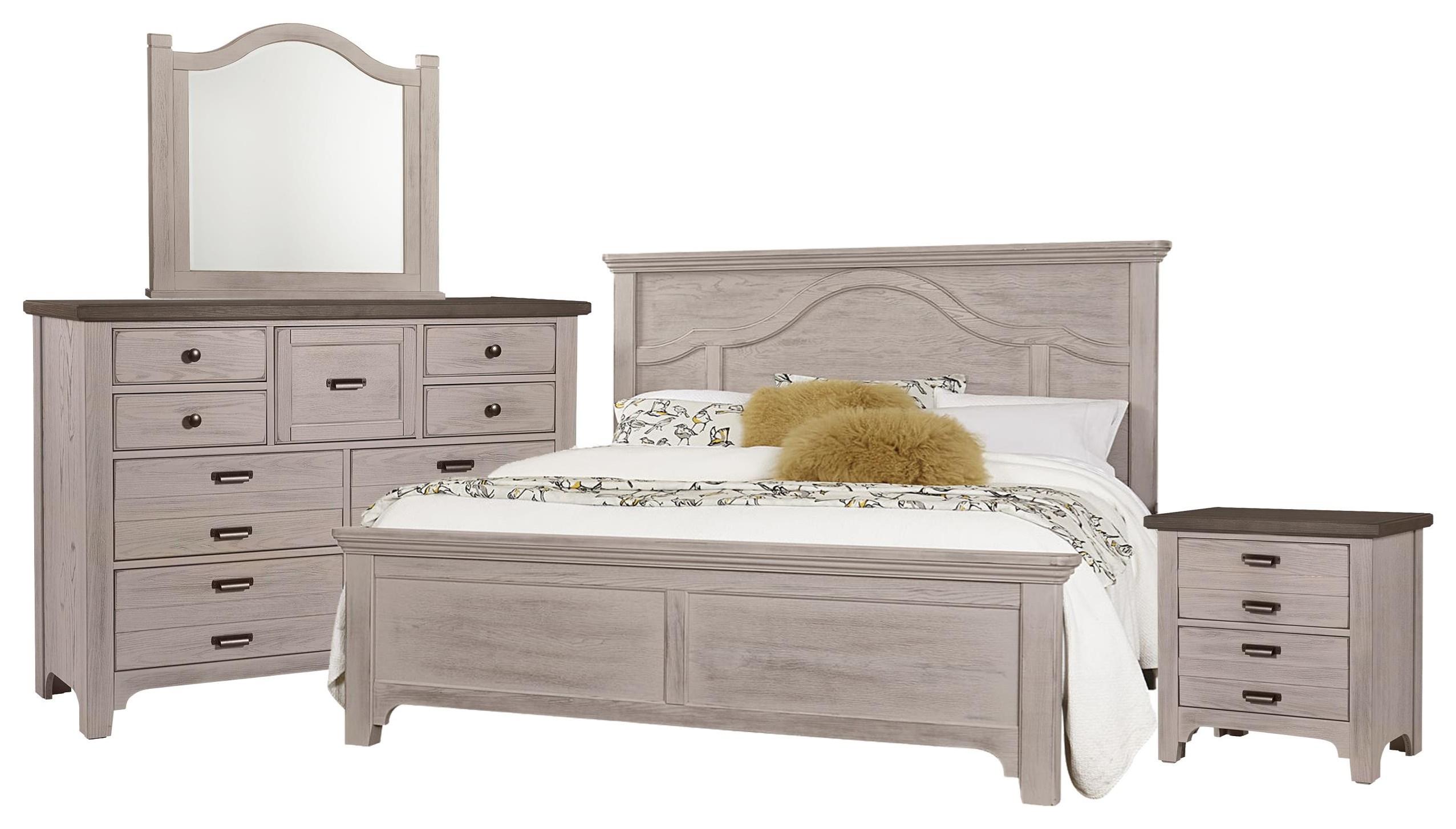 King Mantel, Dresser, Mirror, Nightstand