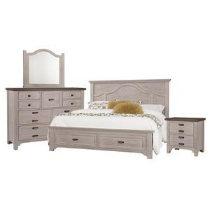 King Mantel, Dresser, Mirror, Nighstand