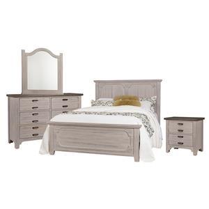 Queen Panel, Dresser, Mirror, Nightstand