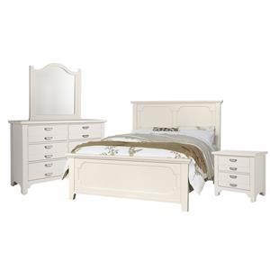 King Panel, Dresser, Mirror, Nightstand