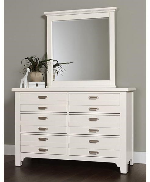 Bungalo Home Double Dresser and Landscape Mirror by Vaughan Bassett at Johnny Janosik