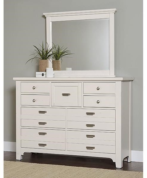 Bungalo Home 9 Drawer Dresser and Master Landscape Mirror by Vaughan Bassett at Johnny Janosik