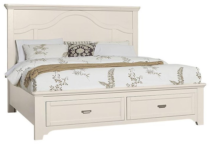 Bungalo Home Queen Mantel Storage Bed by Vaughan Bassett at Johnny Janosik