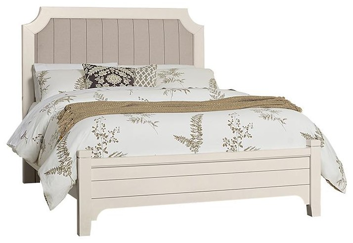 Bungalo Home Queen Upholstered Bed by Vaughan Bassett at Johnny Janosik