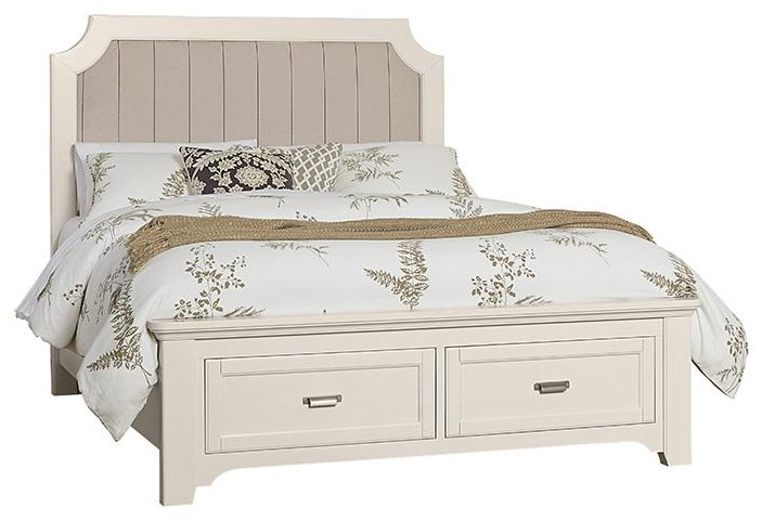 Bungalo Home Queen Upholstered Storage Bed by Vaughan Bassett at Johnny Janosik