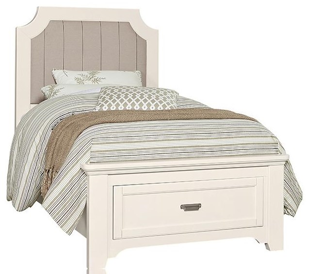 Twin Upholstered Storage Bed