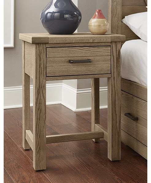 Centennial Solids 1 Drawer Night Stand by Vaughan Bassett at Johnny Janosik