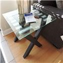 Vaughan Bassett Clearance End Table With Glass Top - Item Number: 995299251