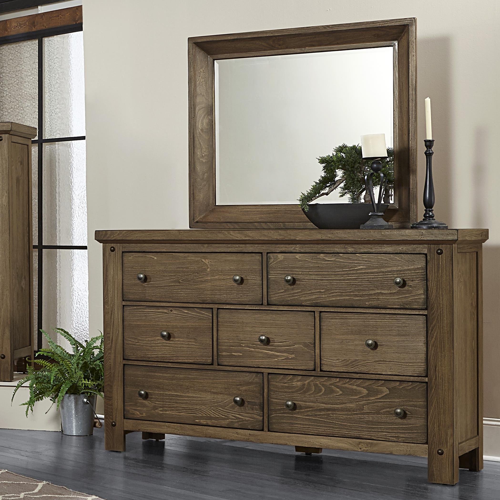 Vaughan Bassett Collaboration Dresser & Mirror - Item Number: 610-002+446