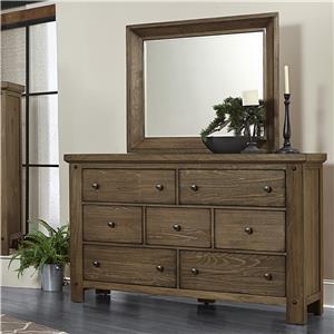Vaughan Bassett Collaboration Dresser & Mirror