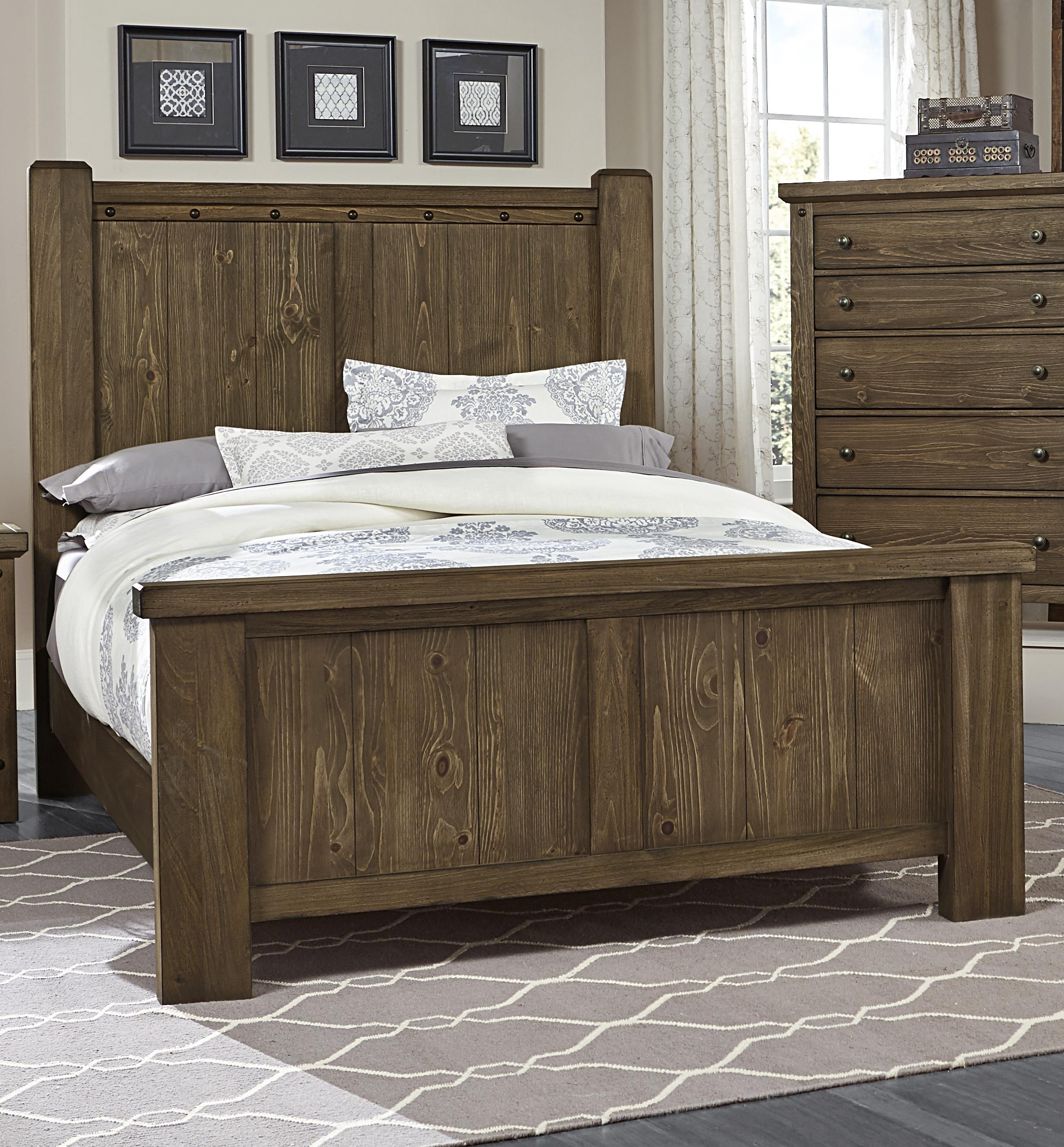 Vaughan Bassett Collaboration Queen Poster Bed - Item Number: 610-559+955+922