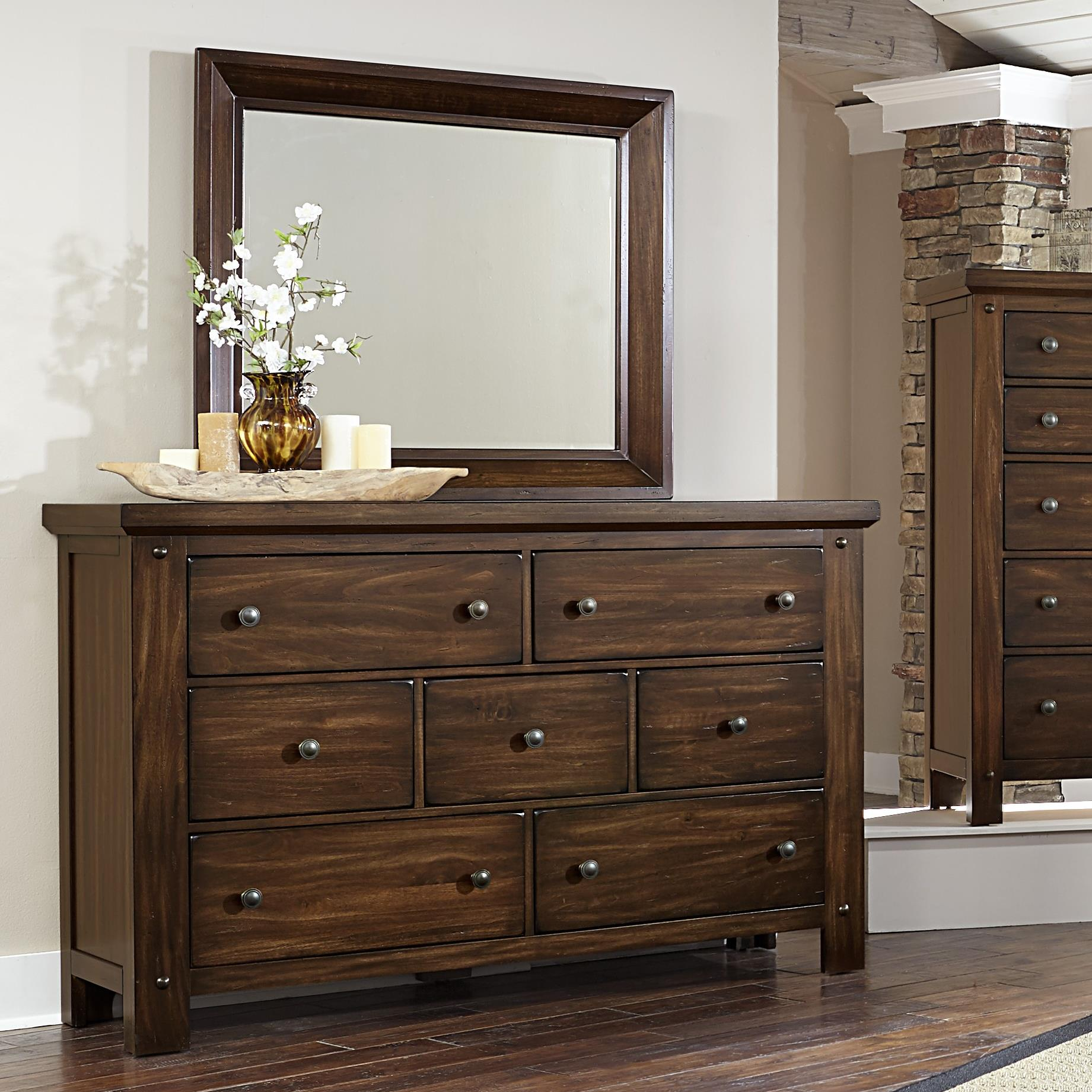 Vaughan Bassett Collaboration Dresser & Mirror - Item Number: 612-002+446