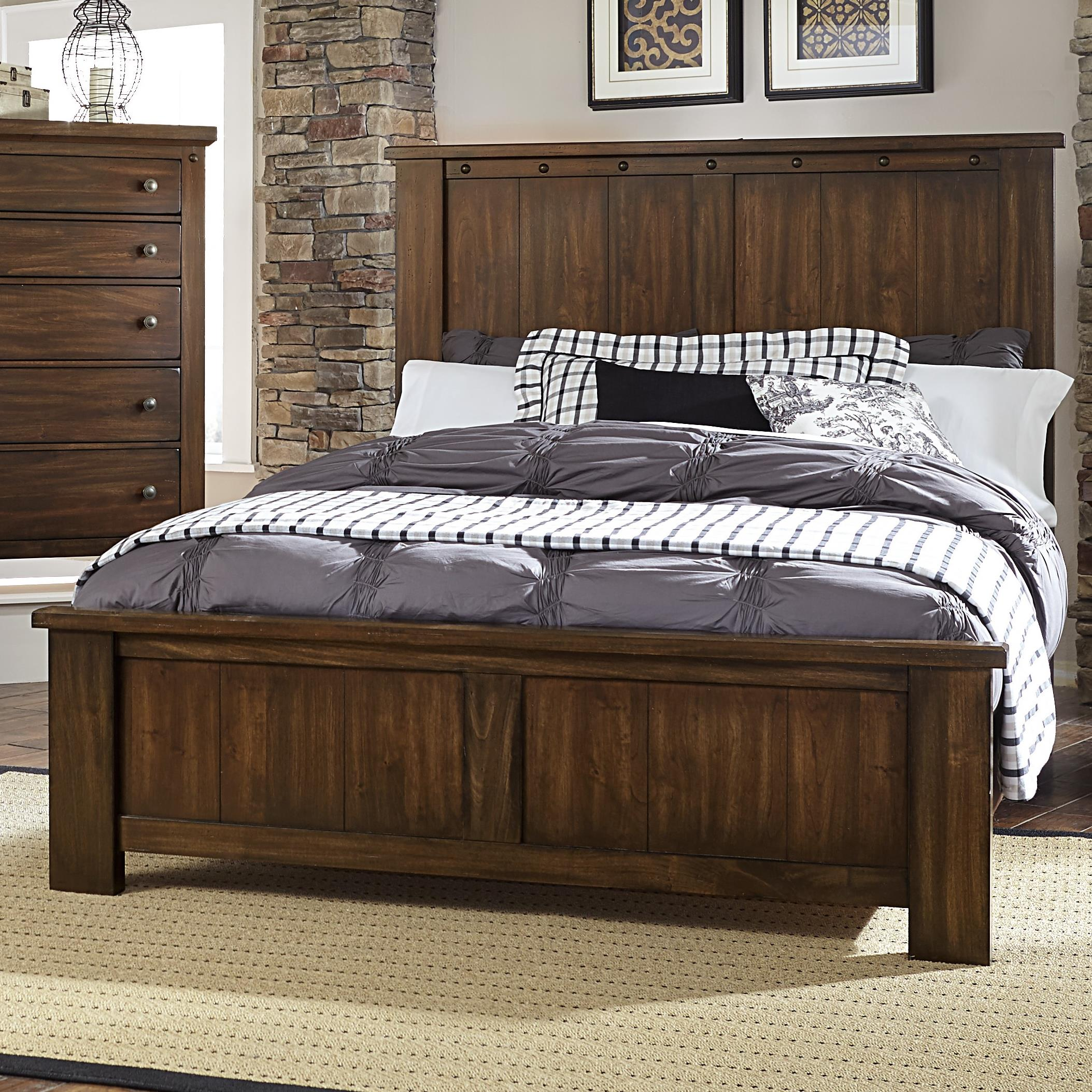 Vaughan Bassett Collaboration King Panel Bed - Item Number: 612-668+866+922+MS2