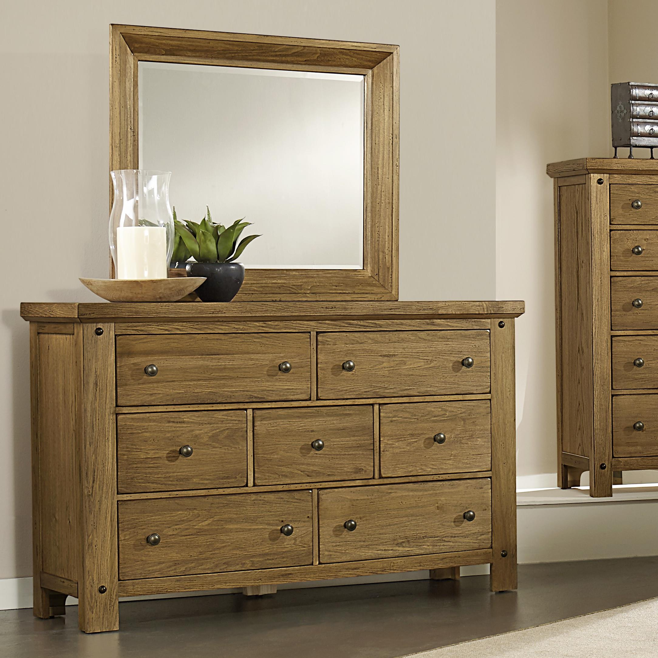 Vaughan Bassett Collaboration Dresser & Mirror - Item Number: 614-002+446
