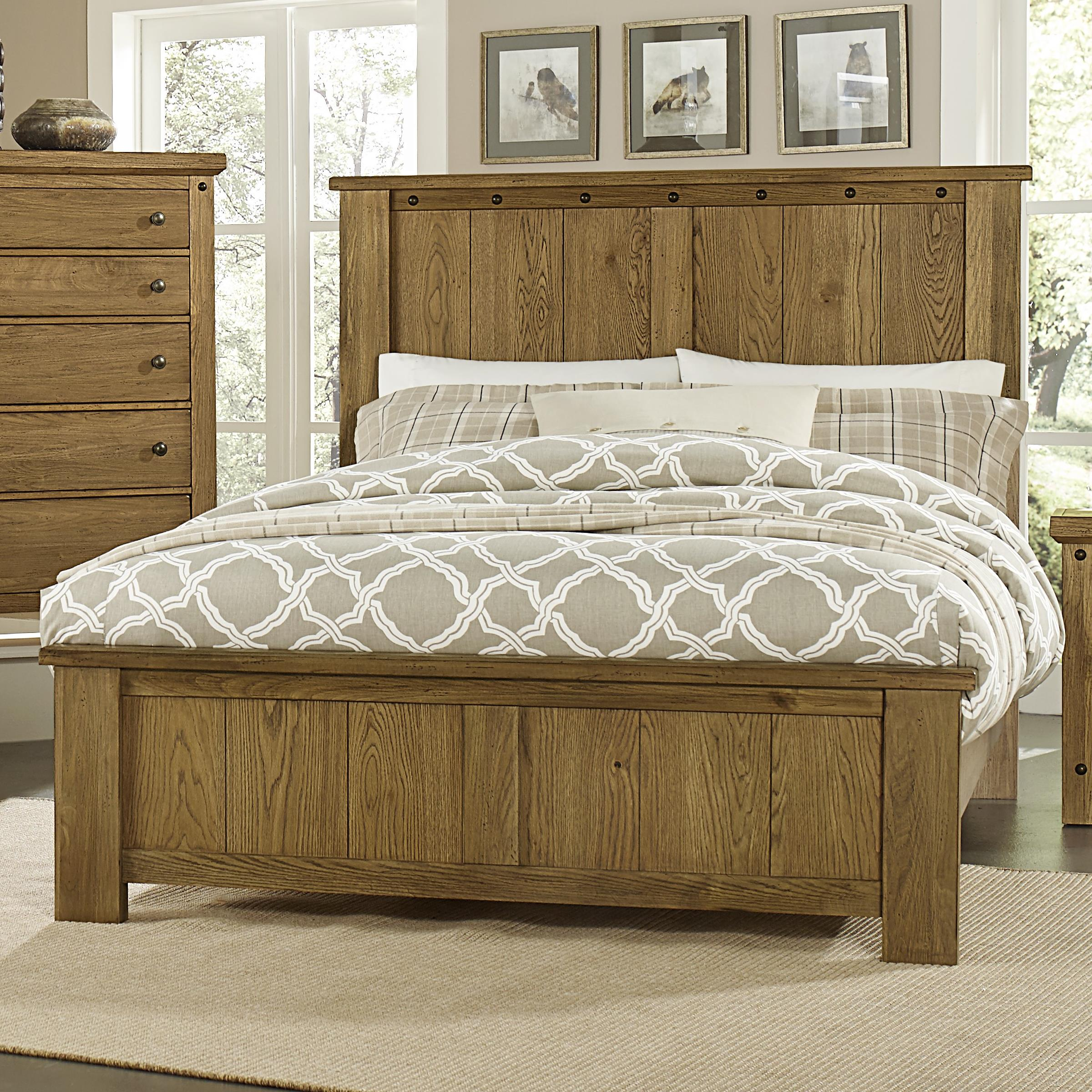 Vaughan Bassett Collaboration Queen Panel Bed - Item Number: 614-558+855+922