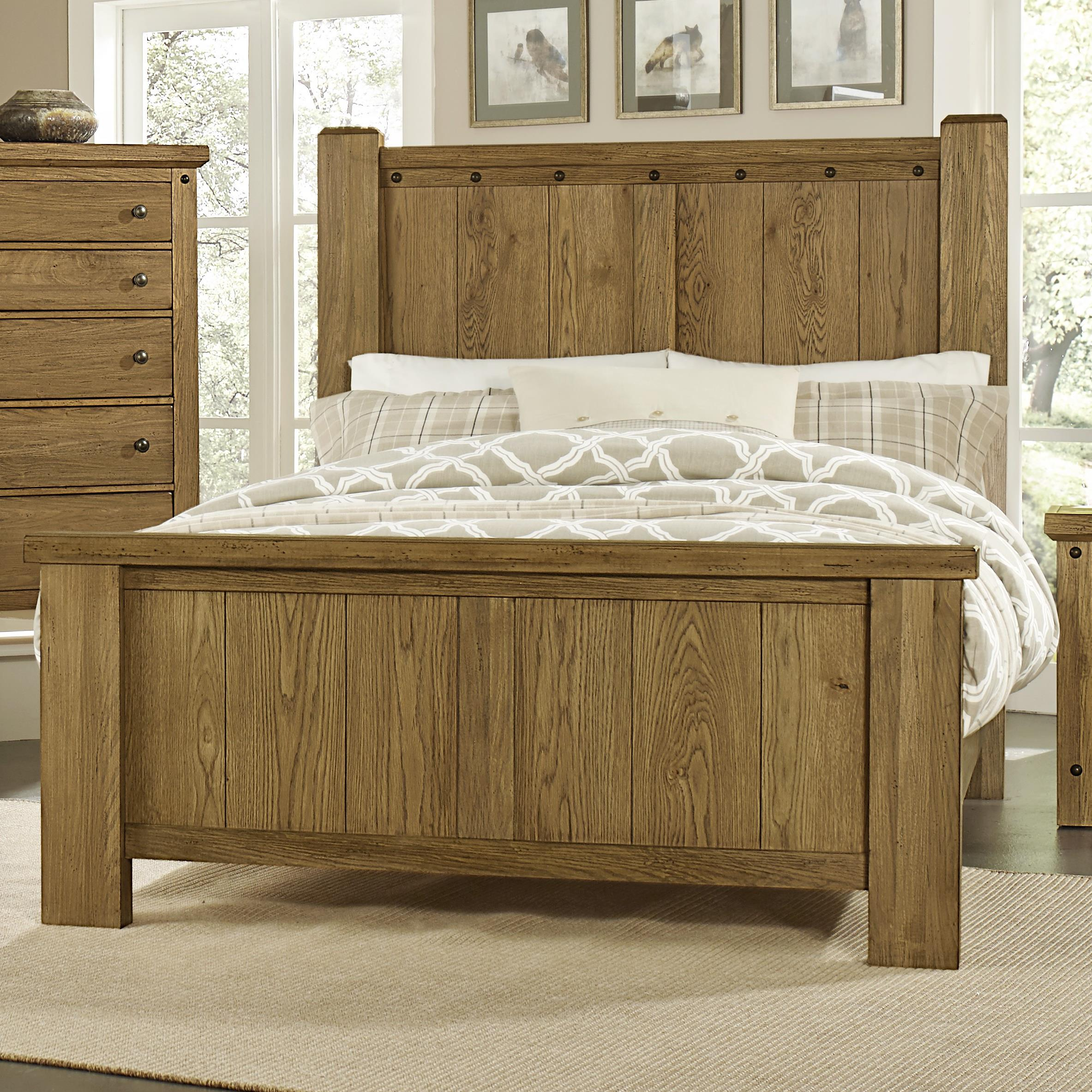 Vaughan Bassett Collaboration Queen Poster Bed - Item Number: 614-559+955+922