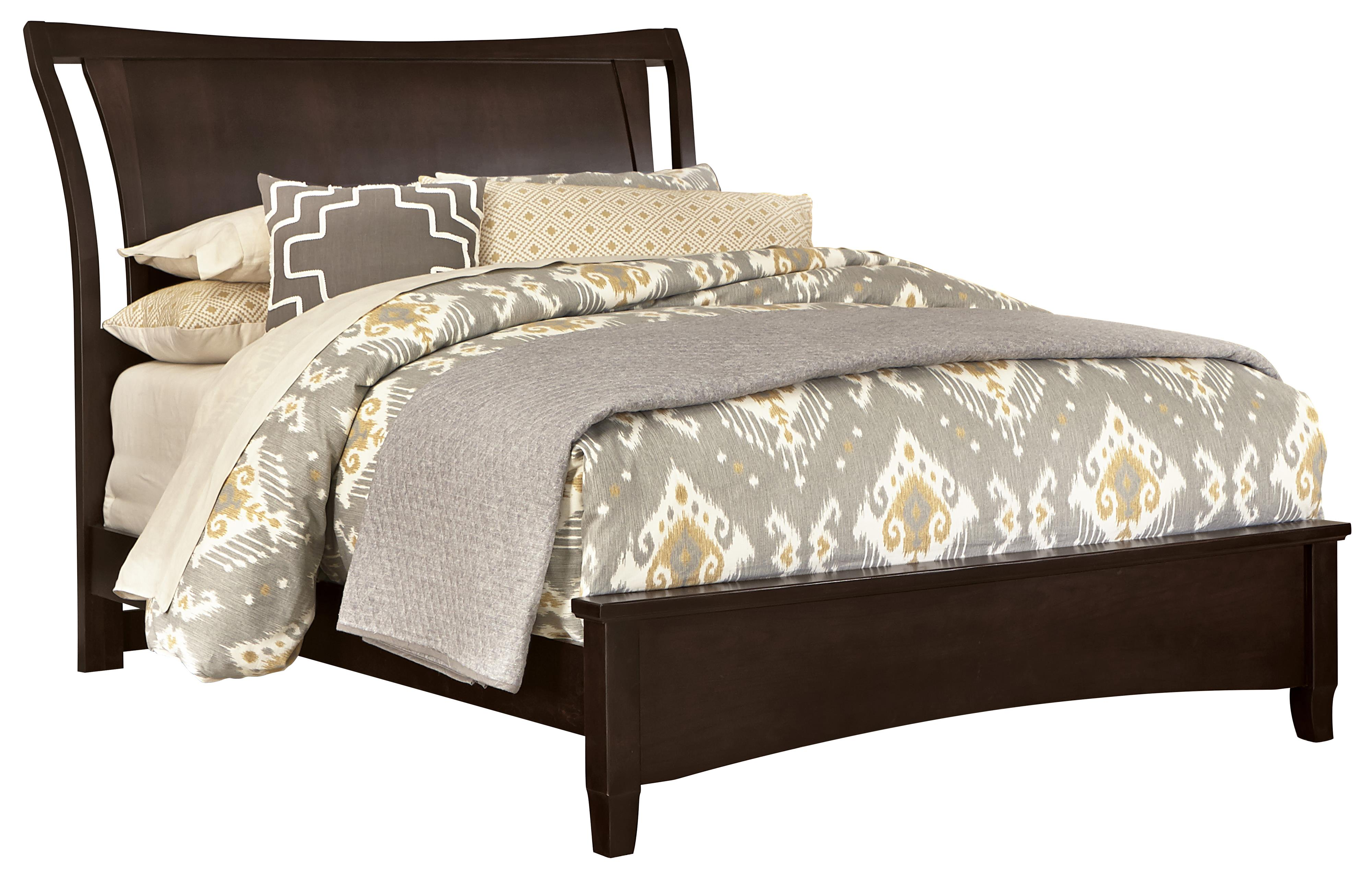 Vaughan Bassett Commentary Queen Wing Bed with Low Profile Footboard - Item Number: 390-551+155+922