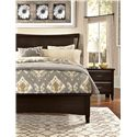 Vaughan Bassett Commentary King Wing Bed with Low Profile Footboard