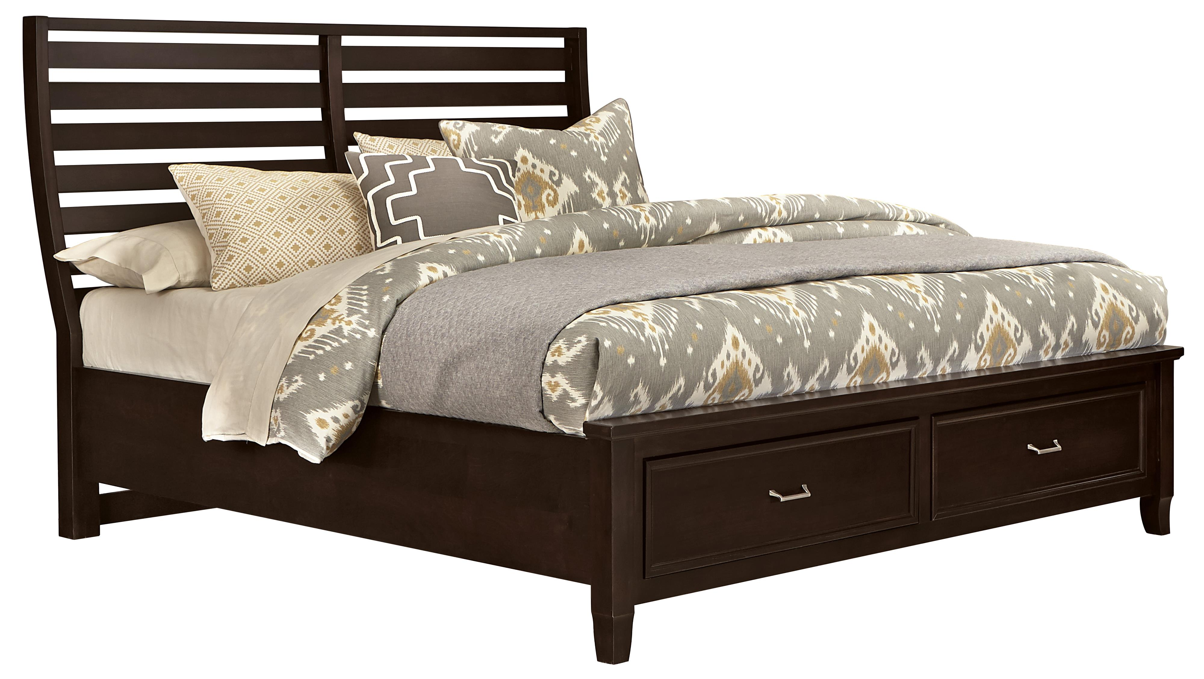 Vaughan Bassett Commentary King Benchback Bed with Storage Footboard - Item Number: 390-668+066B+502+666T