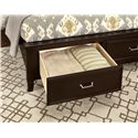 Vaughan Bassett Commentary Queen Benchback Bed with Storage Footboard