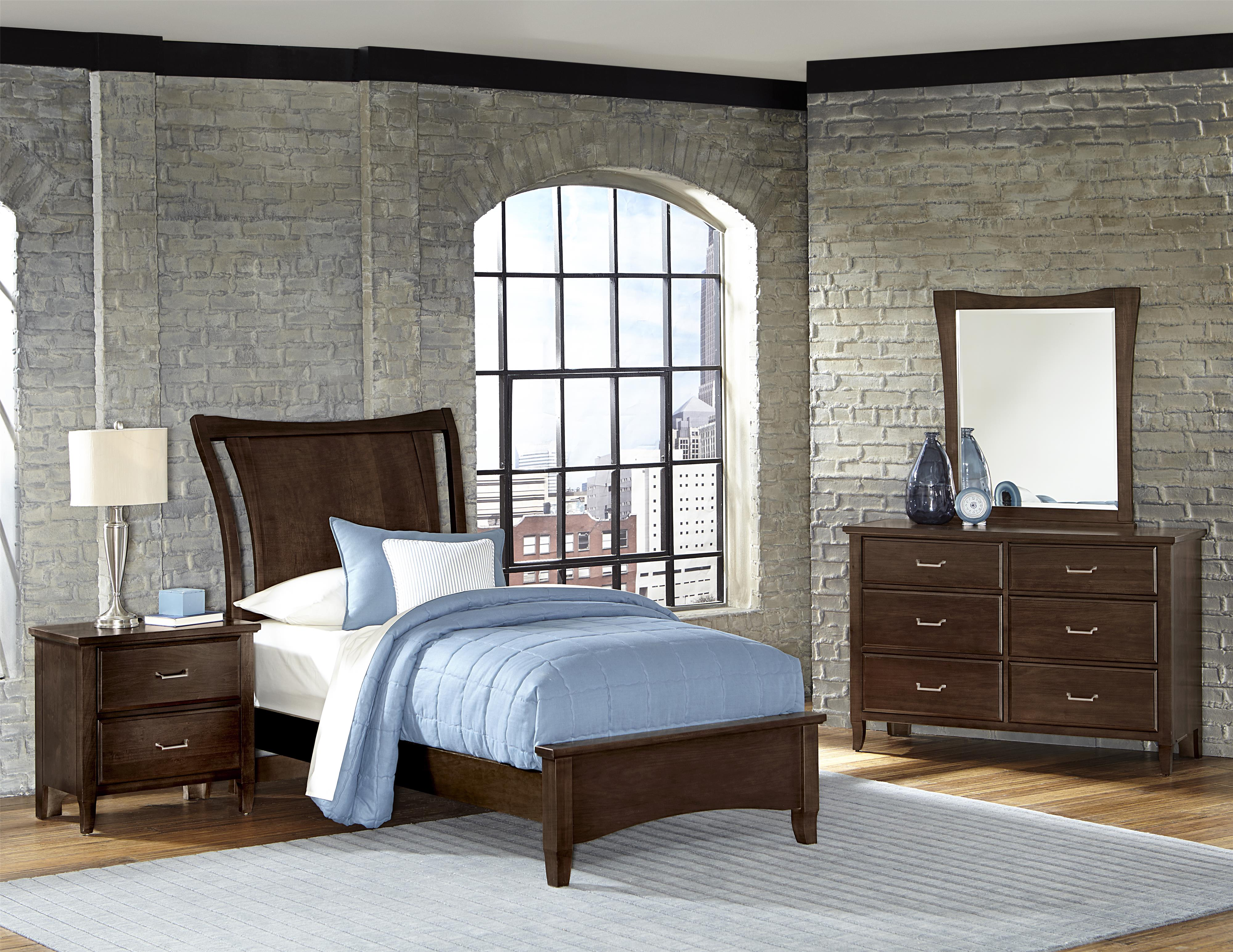 Vaughan Bassett Commentary Twin Bedroom Group - Item Number: 392 T Bedroom Group 1