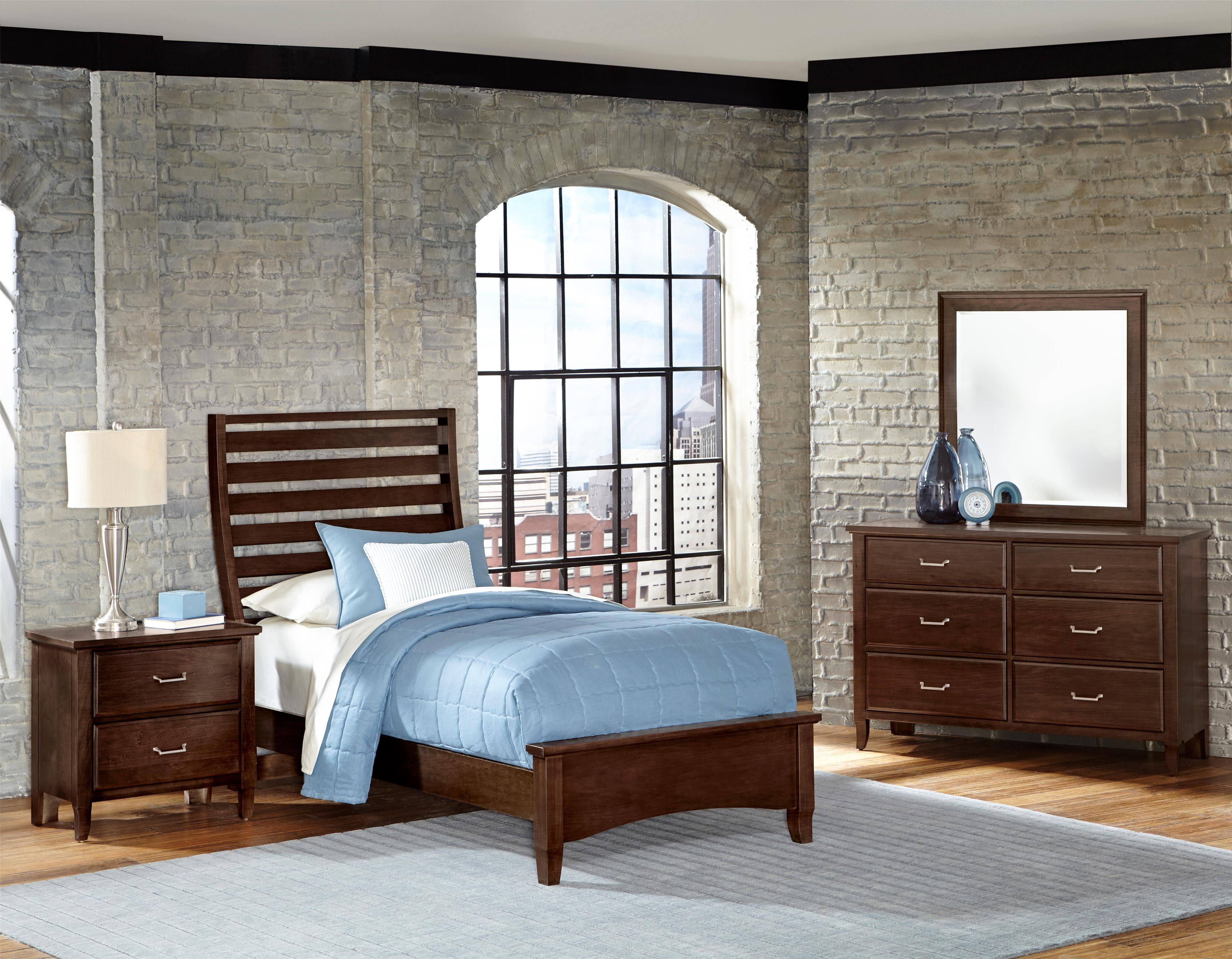 Vaughan Bassett Commentary Twin Bedroom Group - Item Number: 392 T Bedroom Group 2