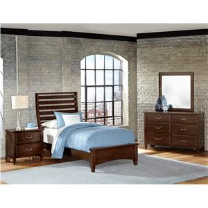 Vaughan Bassett Commentary Twin Bedroom Group
