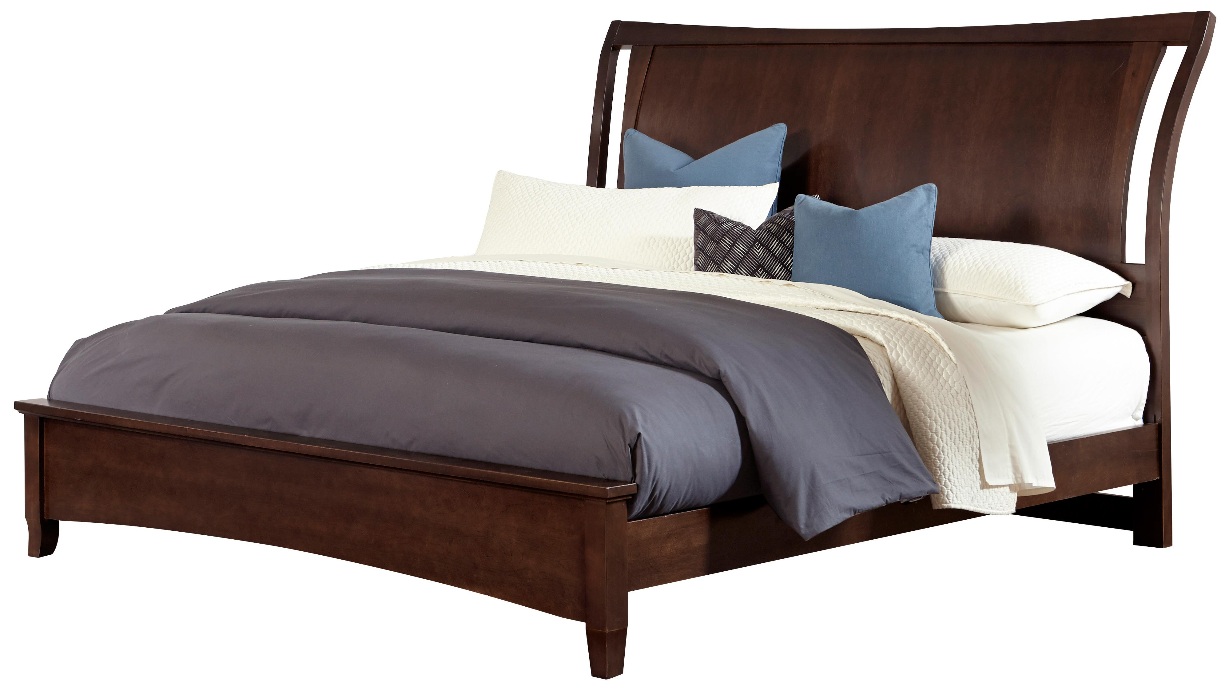 Vaughan Bassett Commentary Queen Wing Bed with Low Profile Footboard - Item Number: 392-551+155+922