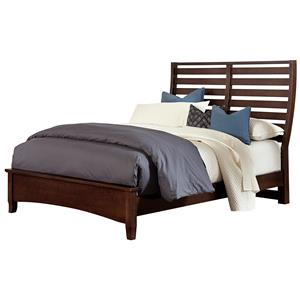 Vaughan Bassett Commentary King Benchback Bed