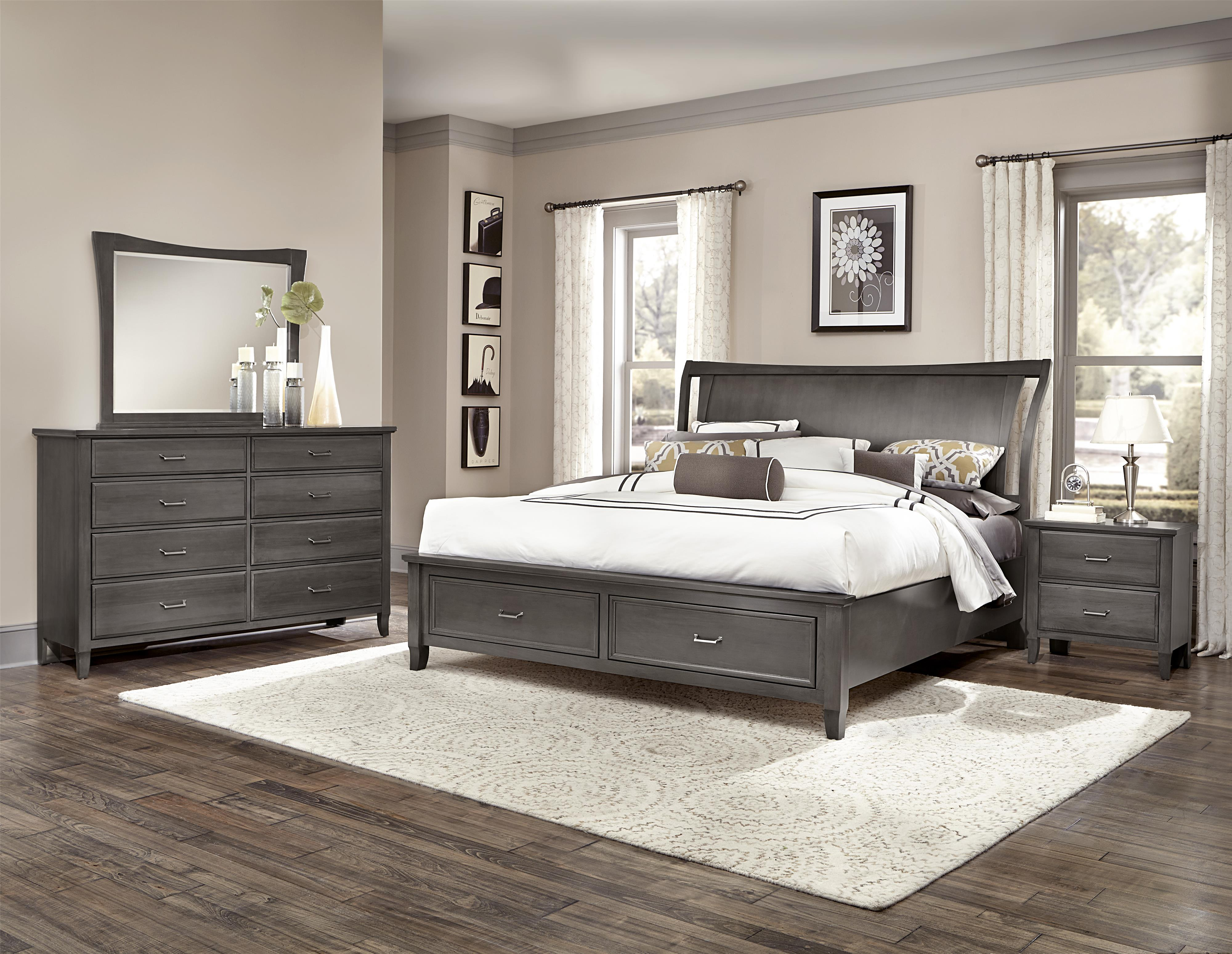 Vaughan Bassett Commentary Queen Bedroom Group - Item Number: 394 Q Bedroom Group 3