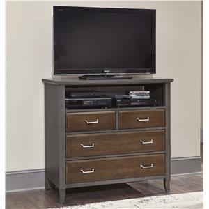 Vaughan Bassett Commentary Media Chest - 4 Drawers