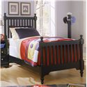 Vaughan Bassett Cottage Twin Slat Poster Bed - Item Number: BB16-337+733+900