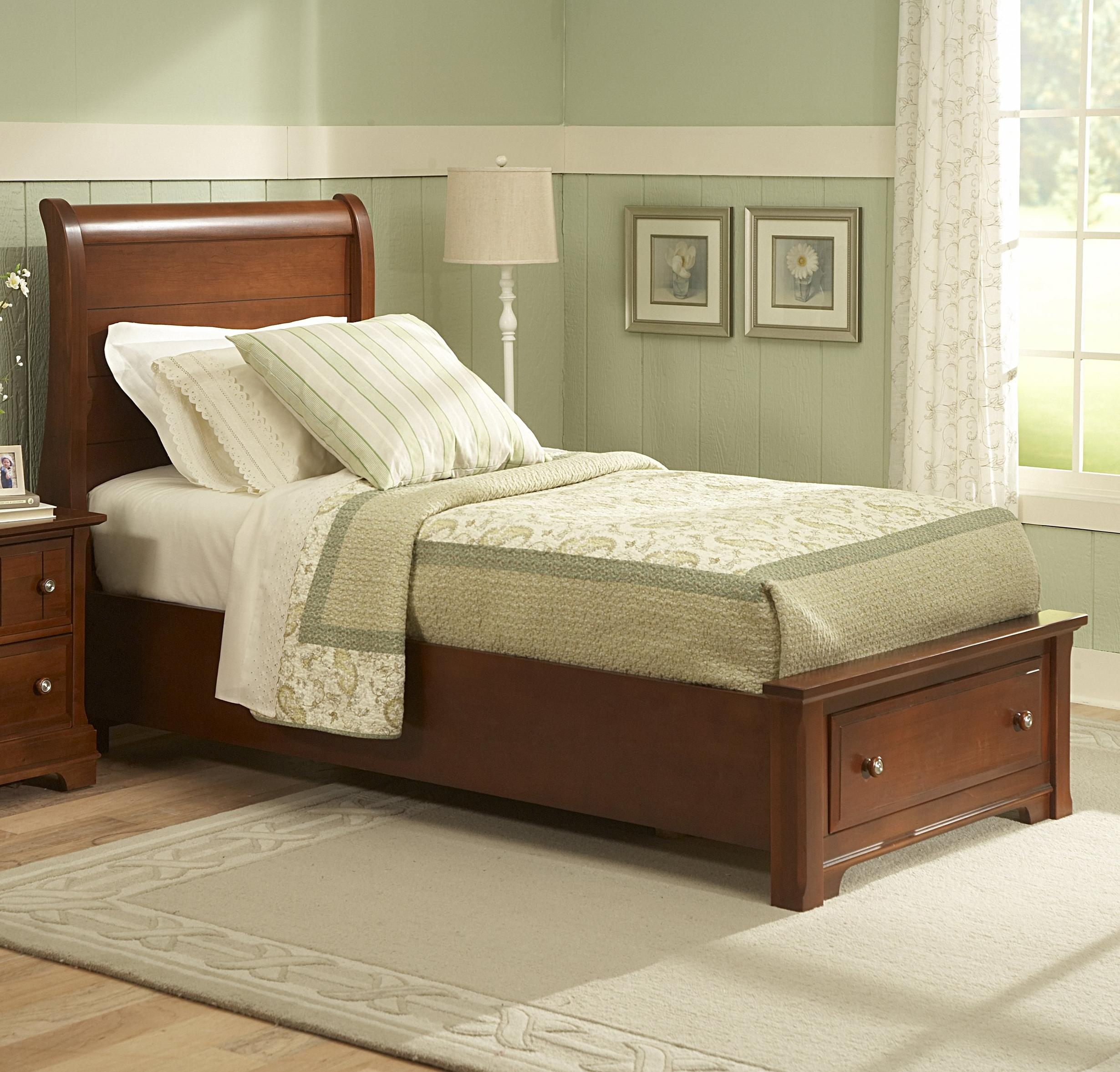Vaughan Bassett Cottage Queen Sleigh Storage Bed - Item Number: BB19-553+050B+555T+502