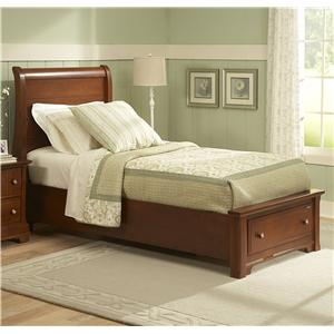 Vaughan Bassett Cottage Twin Sleigh Storage Bed with 1 Drawer