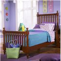 Vaughan Bassett Cottage Twin Slat Poster Bed - Item Number: BB19-337+733+900