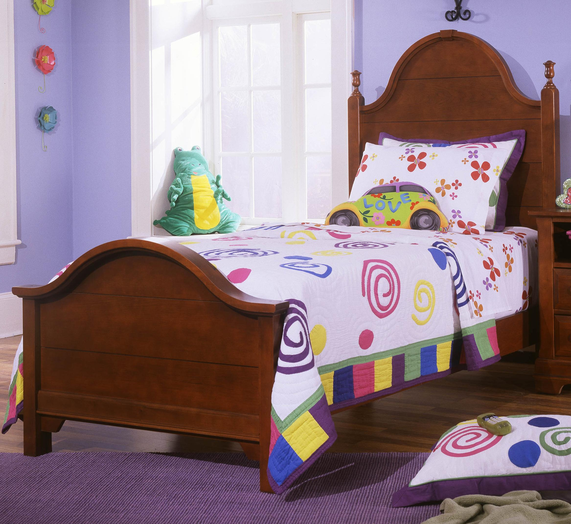 Vaughan Bassett Cottage Twin Panel Bed - Item Number: BB19-338+833+900