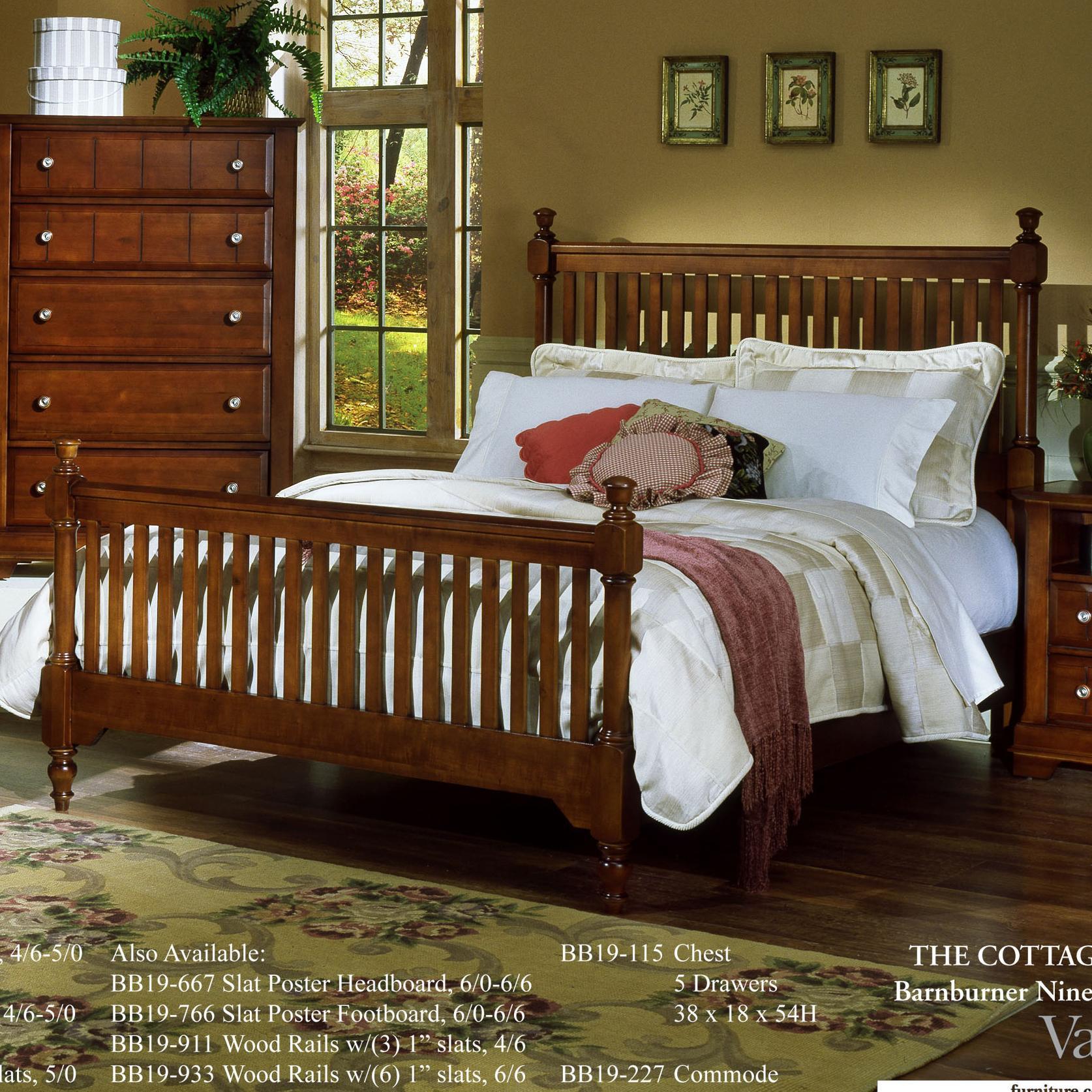 Vaughan Bassett Cottage Full Slat Poster Bed - Item Number: BB19-556+655+911