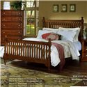 Vaughan Bassett Cottage Full Slat Poster Bed - Bed Shown May Not Represent Size Indicated