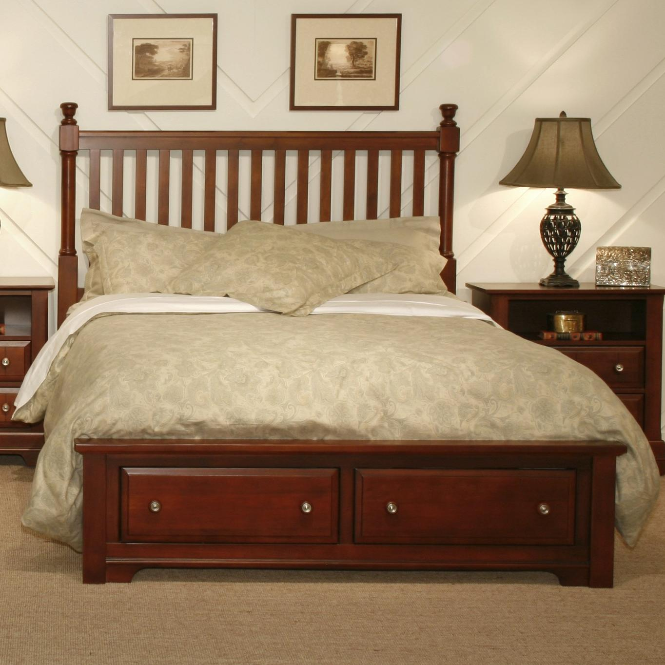 Vaughan Bassett Cottage King Slat Storage Bed - Item Number: BB19-667+066B+666T+502
