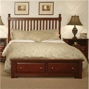 Vaughan Bassett Cottage Queen Slat Storage Bed